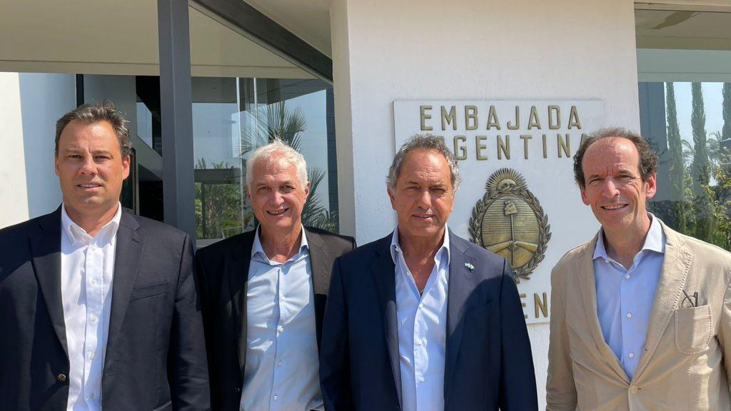 Scioli se reunió con directivos de Tenaris y Ternium para avanzar en el gasoducto a Brasil